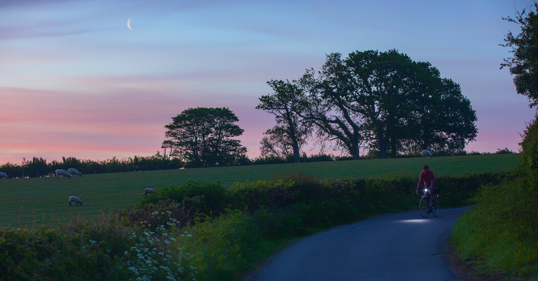 A Cyclist on the English Landscape