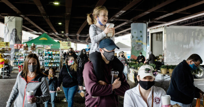 Here Is When the C.D.C. Says You Should Wear Masks Outdoors.