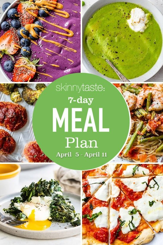 7 Day Healthy Meal Plan (April 5-11)