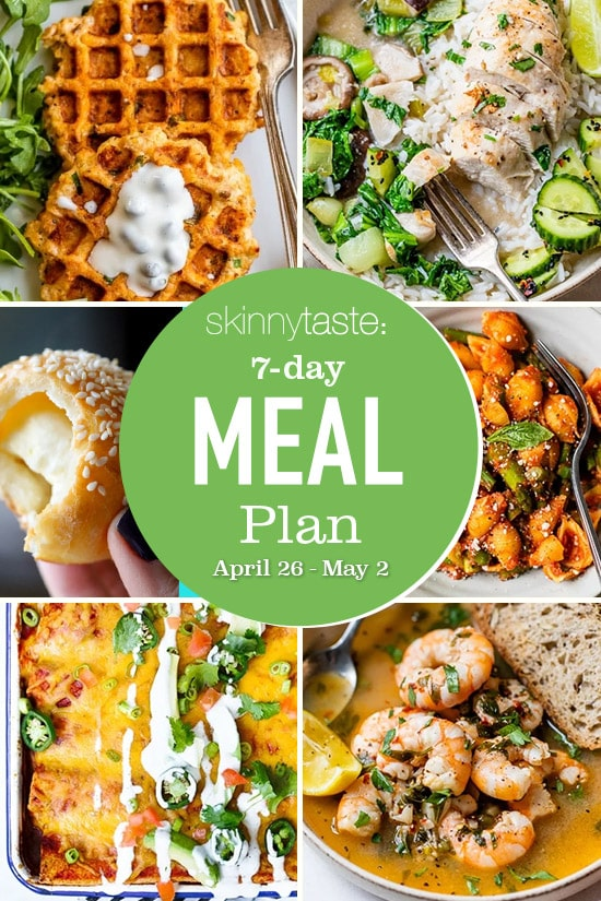 7 Day Healthy Meal Plan (April 26-May 2)