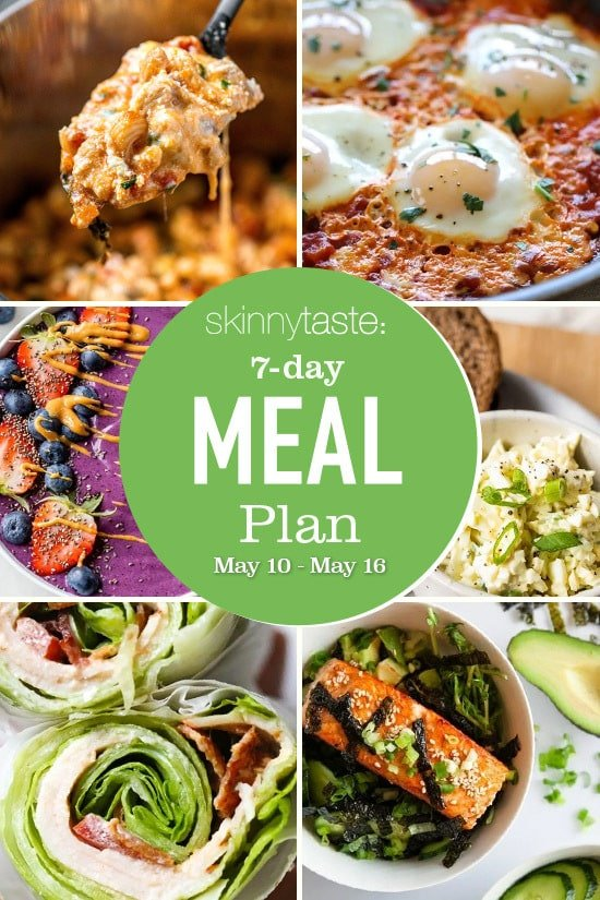 7 Day Healthy Meal Plan (May 10-16)