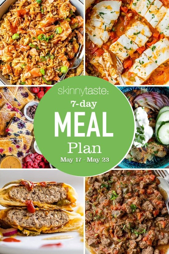 7 Day Healthy Meal Plan (May 17-23)