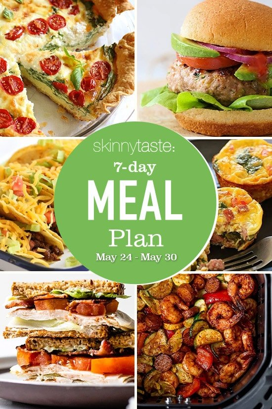 7 Day Healthy Meal Plan (May 24-30)