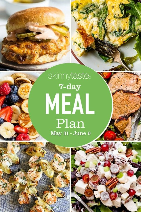 7 Day Healthy Meal Plan (May 31-June 6)