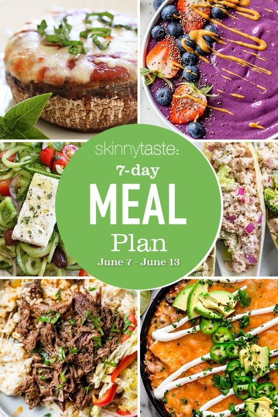 7 Day Healthy Meal Plan (June 7-13)
